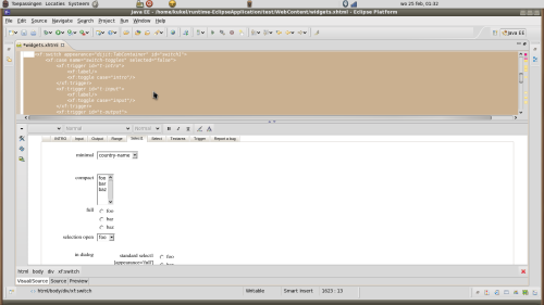 XForms 'aware' JBoss html editor